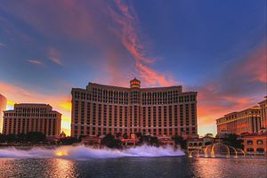 Paradise, Nevada - The Bellagio at dusk