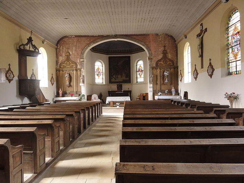 Belrupt-en-Verdunois (Meuse) église intérieur