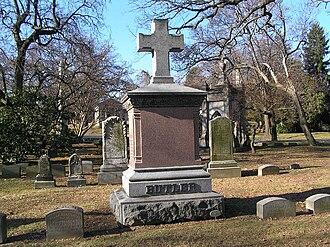Benjamin Franklin Butler (lawyer) - The monument of Benjamin Butler in Woodlawn Cemetery