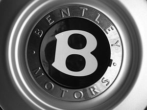 A small part of a wheel from a Bentley Contine...
