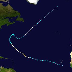 Hurricane Bertha (2008) - Image: Bertha 2008 track