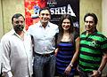 Bhadrakali Ramesh,Sangram Singh,Payal Rohatgi,Gopal Ram From Audio release of 'Baashha' (6).jpg