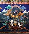 Bhutan-Paro-Dzong-114-Weltenhueter Sued Virudhaka mit Schwert und Vollbart-gje.jpg