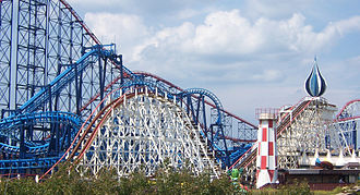 Big Dipper (Blackpool Pleasure Beach) - Image: Big Dipper Hills BPB