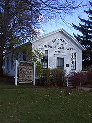 The Schoolhouse in Ripon, Wisconsin where the Republican Party was organized in 1854