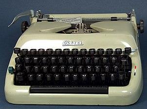 Biser typewriter with Latin letters 01