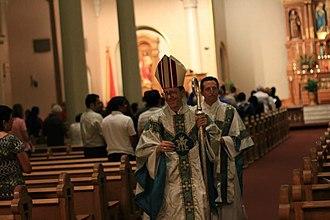 St. Mary's Basilica (Phoenix) - Image: Bishop SMB 01