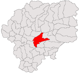 Location in Bistrița-Năsăud County