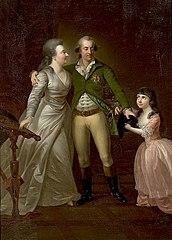 Duke Charles of Courland with his wife and daughter.