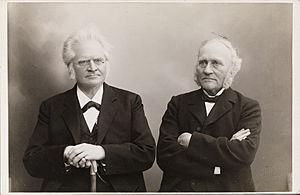 Olaus Arvesen - Olaus Arvesen (right) with Bjørnstjerne Bjørnson