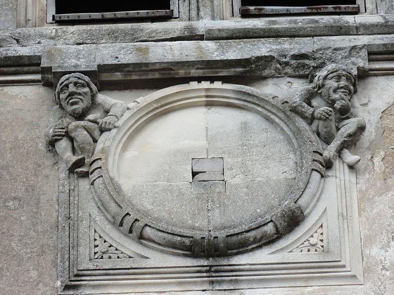 Blémerey (M-et-M) église, sculpture sans horloge, face B de la tour