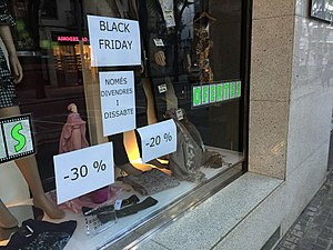Black Friday (shopping) - High discounts at a store during Black Friday.