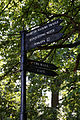 Black fingerpost at Forty Hall, Enfield, London, England 1.jpg