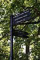 Black fingerpost at Forty Hall, Enfield, London, England 1.jpg