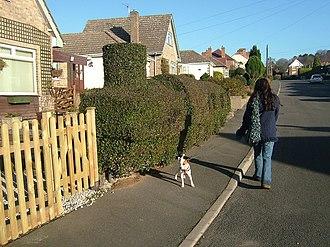 Blackfordby - A street in Blackfordby