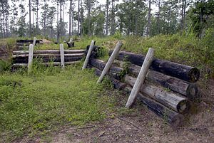 National Register of Historic Places listings in Baldwin County, Alabama - Image: Blakeley Battleground Union Boyaux fortification