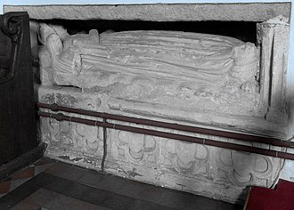William Bourchier, 9th Baron FitzWarin - Effigy of Blanche Bourchier (d.1483), Shirwell Church