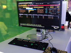 Bloomberg Terminal at London City Airport