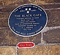 Blue Plaque, The Black Gate - geograph.org.uk - 1342303.jpg