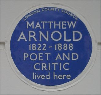 Matthew Arnold - A London County Council blue plaque for Arnold at 2 Chester Square, Belgravia