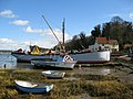 Boats moored in front of Pin Mill - geograph.org.uk - 722329.jpg