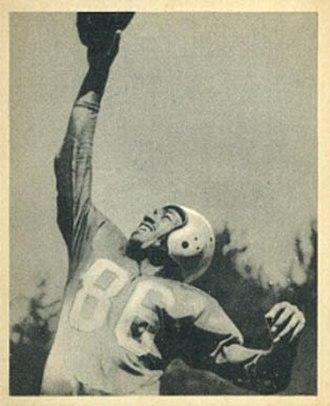 Bob Mann (American football) - Image: Bob Mann 1948Bowman