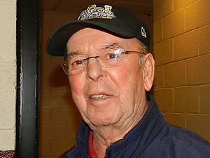 Bob Cole (sportscaster) - Bob Cole pictured before a playoff game  on May 22, 2012