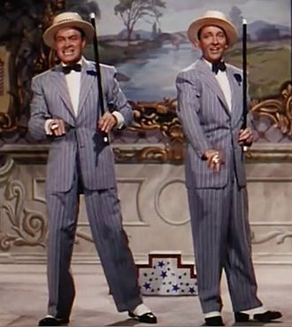 "Bob Hope - Bob Hope and Bing Crosby sing and dance during ""Chicago Style"" in Road to Bali (1952)"
