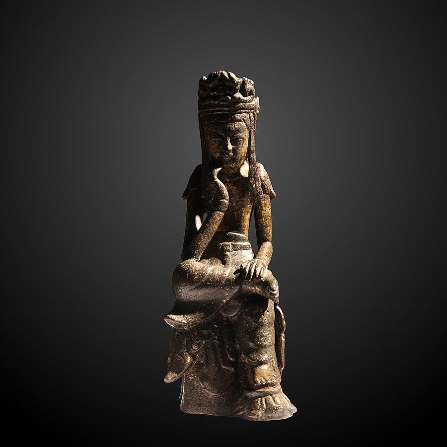 Bodhisattva sitting on lotus-MG 15258