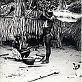 Body of Maroon child brought before medicine man, 1955.jpg
