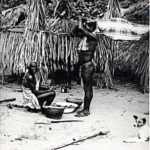 Maroon (people) - Body of Ndyuka Maroon child brought before a shaman. Suriname, 1955