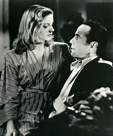 In To Have and Have Not with Humphrey Bogart (1944) Bogart and Bacall To Have and Have Not.jpg