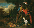Bogdány Still-Life with Fruit, Parrots and a White Cockatoo.jpg