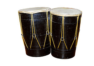 A pair of bongos - percussion instrument Deuts...