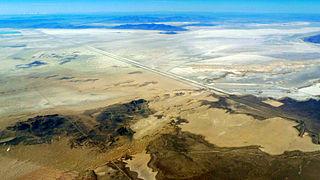 Bonneville Salt Flats densely packed salt pan in Tooele County in northwestern Utah