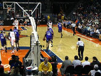Bonzi Wells - Bonzi takes the ball up court for the Sacramento Kings.