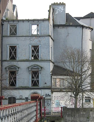 George Boole - The house at 5 Grenville Place in Cork, in which Boole lived between 1849 and 1855, and where he wrote The Laws of Thought (Picture taken during renovation.)
