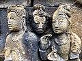 Borobudur - Divyavadana - 081 N, King Sikhandi orders his people to throw dust on Ven Mahakatyayana (detail 1) (11706664356).jpg