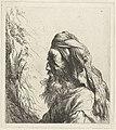 Borstbeeld van een oosterling met baard en tulband Diverse tronikens geets van J. L. (serietitel), RP-P-OB-12.553.jpg