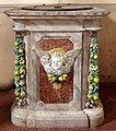 Bottega di Andrea Della Robbia, fonte battesimale di san pietro a vaglia, ricomposto nel settecento, 01.jpg
