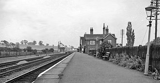 Bottesford railway station - Bottesford station in 1963