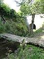 Bourg-le-Roi (Sarthe) passerelle sur ruisseau le Rosay nord.jpg