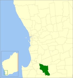 Shire of Boyup Brook - Location in Western Australia