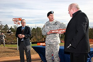 Patrick Henry Brady - Brady (left) and fellow Medal of Honor recipient Gary Wetzel (right) during a ceremony to name streets in their honor at Fort Rucker, Alabama, in 2007