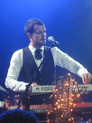 Brandon Flowers on keys in the Empire Ballroom...