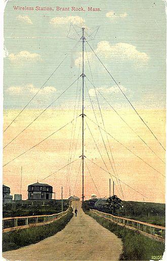 Ocean Bluff-Brant Rock, Massachusetts - Image: Brant rock radio tower 1910