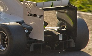 Brawn BGP 001 - The controversial diffuser of the BGP 001.