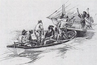 John C. Breckinridge - Breckinridge's party hijacking a larger boat