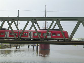Oldenburg–Bremen railway - Weser bridge