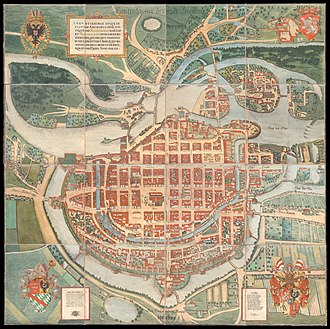 Wrocław - Map of the city from 1562